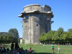 Flak Tower    http://www.reddit.com/r/zombies/comments/11n36p/pretty_awesome_zombie_fortress_in_the_city_i_live/