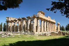Temple of Zeus, Cyrene, Libya. A Greek Doric temple built around 6-5th century BCE. Cyrene is the most complete Ancient Greek city in North Africa.