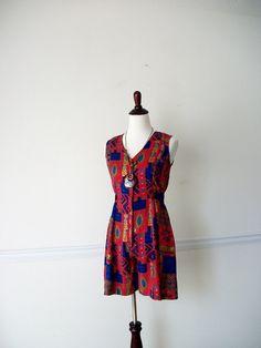 Vintage Ethnic Print Romper Summer Wear by NoveltyandThings