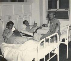 Men is Hospital at Hickam Field, Pearl Harbor, Hawaii 1941
