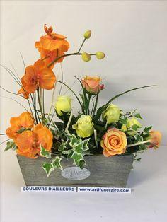 composition de fleurs artificielles orchid es roses. Black Bedroom Furniture Sets. Home Design Ideas