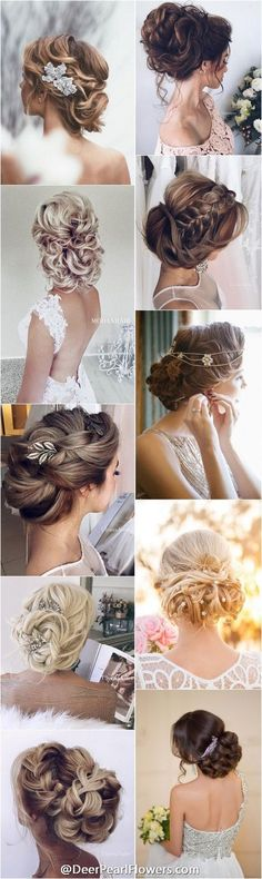 Middle left1000+ Wedding Hairstyles for Long Hair | http://www.deerpearlflowers.com/wedding-hairstyles/