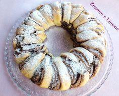 La ciambella alla nutella è un dolce fragrante e di bell'aspetto che, se si preferisce, può essere farcito con della marmellata o del cioccolato. Nutella Recipes, Cookie Recipes, Cake Cookies, Cupcake Cakes, Nutella Cake, Pie Crumble, Favorite Cookie Recipe, Torte Cake, I Love Food