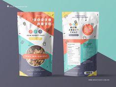 Trail Mix Packaging V2 by Anthony Mendes on Dribbble Food Packaging Design, Cute Packaging, Packaging Design Inspiration, Food Branding, Logo Inspiration, Granola, Healthy Filling Snacks, Healthy Food, Creative Kids Snacks