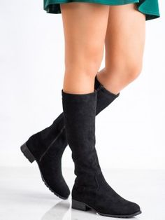 Pohodlné semišové čižmy Knee Boots, Wedges, Shoes, Fashion, Moda, Zapatos, Shoes Outlet, Fashion Styles, Knee Boot