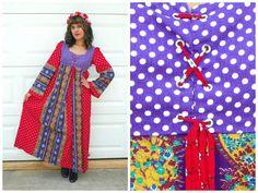 1960s Style Vintage Medieval Festival Dress by Enchantedfuture