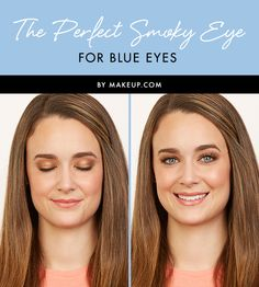 Hey blue eyed ladies! Here is the perfect smoky eye makeup to highlight your baby blues. See here for the full tutorial!