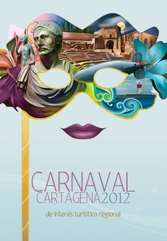 """Carnaval 2012"" __ Illustration © KarmaLizzard (Marga Ferrer Donaire) __ #inspirational #creativity #concept #art #direction #graphic #illustration #painting #digital #mixed_media #tumblr"