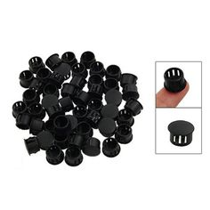 Frugal 18mm Diameter Plastic White Plug Caps Inserts For Tubes Cap 24 Pieces Furniture