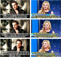 Colin and Jennifer talking about #HookandEmma #CaptainSwan relationship