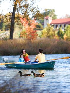 At Forest Park in St. Louis, rent boats, ride bikes, ice skate, visit a world class Zoo, Art Museum, History Museum--and much, much more. Bonus? Eat at the Boathouse restaurant and enjoy the view!