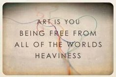 When the world is weighing you down, art will free you! http://wwas.org.au