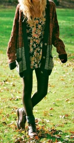 Leggings With Oversized Cardigan