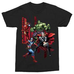 Marvel rajongó vagy?!😍 Csekkold le a pólóinkat a weboldalon  #bosszúállók #kedvenc #best #ajándék #ajándékötlet #amerikakapitány #pókember #vasember #thor Avengers, Stripes, Mens Tops, T Shirt, Marvel, Products, Fashion, Supreme T Shirt, Moda