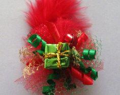 Dog Hair Bow Christmas Present Fascinator