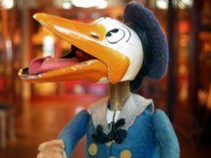 Donald Duck by Schuco, Germany 1940's. Suomenlinna Toy Museum, Helsinki, Finland.