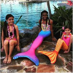 We had to share this post of some of our favorite mermaids!  Little Froggy got to be a mermaid for the day with the help of @kidtoytesters_sachi  and @kidtoytesters_kimi . #funfin #mermaid #myfroggystuff #funfinmermaid #mermaids #RT