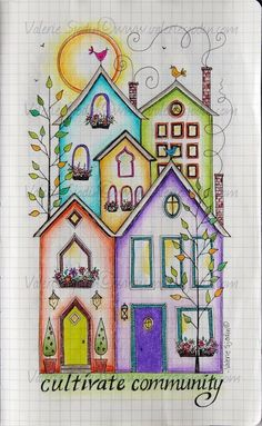 "visual blessings: The idea of ""HOME"" in my Moleskine Journal"