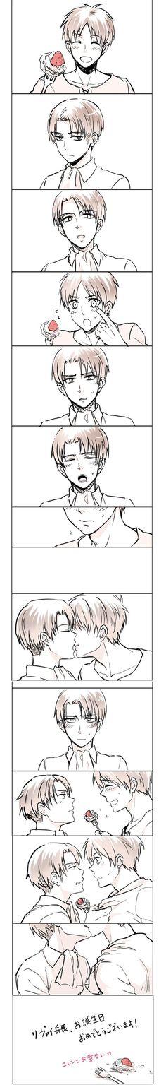 Rivaille (Levi) ♥ Eren Jaeger