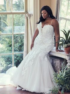 90ee06b79759 Alistaire Lynette by Maggie Sottero is gorgeous!! Full Figure Wedding Dress