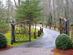 Cattle Ranch Driveway Entrances Farm Entry Gates