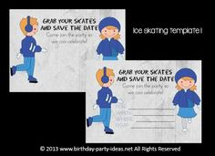 Find a rink for ice skating party fun   #birthday #party #invitation #template #printable $2.00