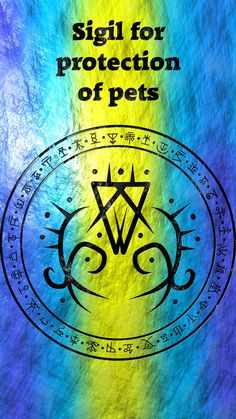 ☽✪☾...Sigil for protection of pets