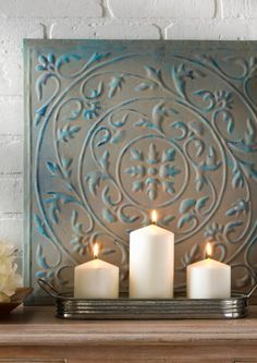 Add a rustic vibe to your space with some DIY Distressed Decor that's perfect for the mantle. :)