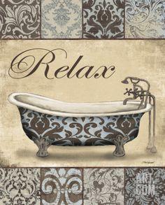 Relax Bath Print by Todd Williams at eu.art.com