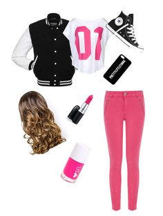 """""""School Girl"""" by graciejeanbell ❤ liked on Polyvore featuring NIKE, Oasis, Converse and Lipsy"""