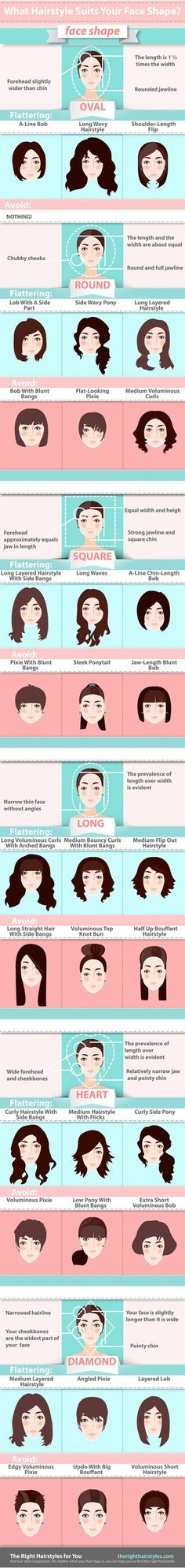 Best Hairstyles for Your Face Shape, check it out at http://makeuptutorials.com/hairstyles-face-shape-makeup-tutorials