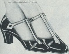 Patent Leather T-Strap Shoe 1927