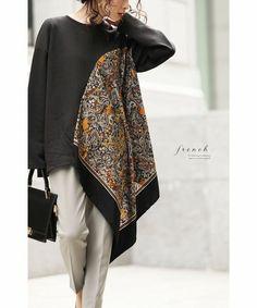 Modest Fashion, Hijab Fashion, Fashion Dresses, Fashion Sewing, Diy Fashion, Fashion Tips, Umgestaltete Shirts, Mode Bcbg, Mode Abaya