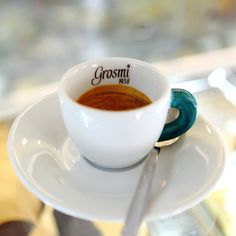 Perfect Espresso from Caffè Grosmi! Shops, Tableware, Italy, Tents, Dinnerware, Dishes, Retail Stores, Serveware