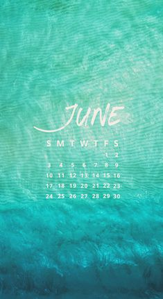 June 2018 Calendar | Wallpaper for iPhone