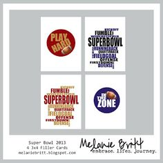 Happy Super Bowl Sunday!! Free Download... #projectlife #digitalprojectlife