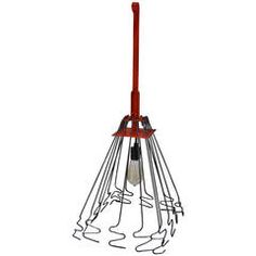 Chimney Cleaning Instrument Repurposed as Pendant Light
