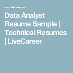 Technical Resumes Entry Level Financial Analyst Resume Sample  Livecareer  Resumes .