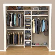 Small Master Closet, Small Closet Design, Bedroom Closet Design, Master Bedroom Closet, Small Closets, Closet Designs, Small Closet Redo, Master Closet Layout, Small Closet Space