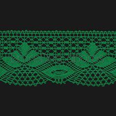 Puntilla de encaje de bolillos de algodón de 6 cm. (Disponible en 11 colores)