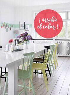 ¡Arriba la primavera con estas sillas de colores!