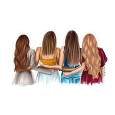Drawing Of Girls Friends Sisters - Drawing Best Friend Pictures, Bff Pictures, Pictures To Draw, Best Friend Drawings, Girly Drawings, Best Friend Sketches, Easy Drawings, 4 Best Friends, Best Friends Forever
