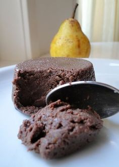 microwave protein chocolate pudding cake -- only 3 ingredients, and they will surprise you