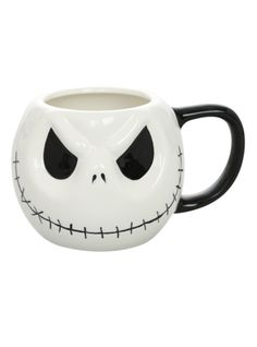 18 Oz. Jack Skellington ceramic mug from The Nightmare Before Christmas.