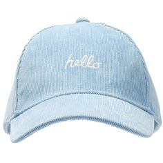 48833ed86a1 HELLO GOODBYE CAP ( 15) ❤ liked on Polyvore featuring accessories