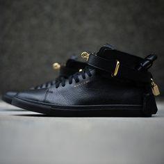 100mm Leather Sneaker | Buscemi | $885