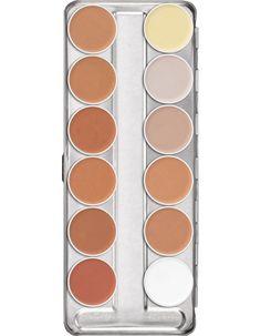 Ultra Foundation Palette 12 Farben | Kryolan - Professional Make-up