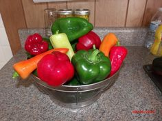 From my garden 2014. Best harvest ever.  First time canning and pickling.