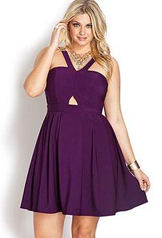 Whimsical Pleated Halter Dress | FOREVER21 PLUS - 2000070366