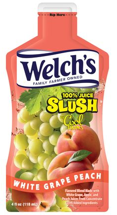 Welch's 100% Juice Slush by Cool Tropics – White Grape Peach